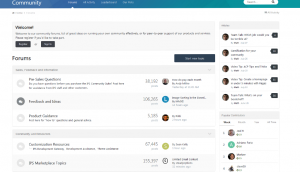 Invision Community Forum Layout