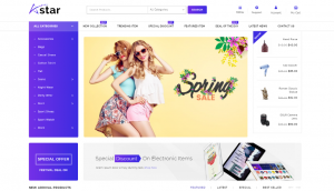 AStar WordPress Store Theme Layout