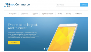 NopCommerce Store Layout