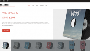 Retailer WordPress Store Theme Layout